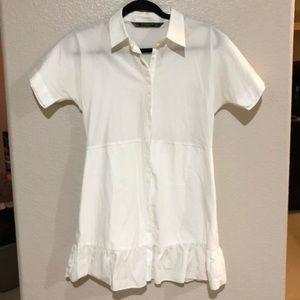 🖤ZARA dress all white Trafaluc collection🖤